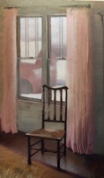 """The Dining Chair - Oil on Linen - 55""""x 32""""- $2800"""