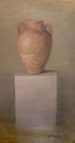 """Urn, 40"""" x 22"""", Oil on Linen"""