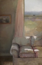 "Millbrook Interior - Oil on Linen - 44"" x 28"""