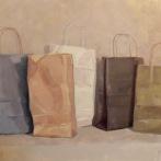 """Bags - Oil on Linen - 40""""x-28"""" - $1600"""