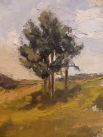 "A View From Millbrook Vineyard - Oil on Linen Board - 10""x7.5"" - $900"