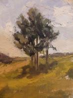 "A View From Millbrook Vineyard - Oil on Linen Board (Framed) - 10""x7.5"" - $650"