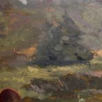Misty Day on Monhegan,detail