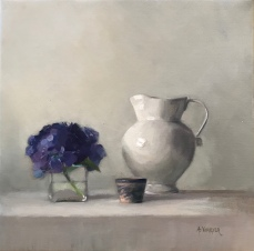 Hydrangea with Porcelain - SOLD