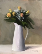 "Summer Bouquet - Oil on Linen - 14""x18"" - $1600"