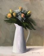 """Summer Bouquet - Oil on Linen (Framed) - 14""""x18"""" - $850"""