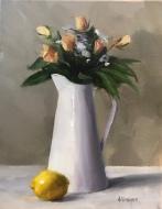 "Summer Beauties - Oil on Linen - 14""x18"" - $950"