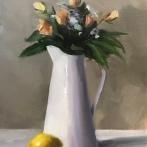 """Summer Beauties - Oil on Linen (Framed) - 14""""x18"""" - $950"""
