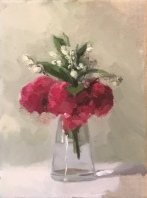 "Tiny Bouquet - Oil on Linen - 9""x12"" - $1300"