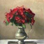 Red Poppies – Oil on Linen (Framed) – 18″x24″ – $1100
