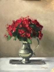 Red Poppies – Oil on Linen – 18″x24″ – $1800