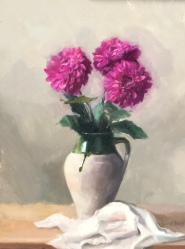 """Vessel with Flowers - Oil on Linen - 16""""x 20"""" - $850"""