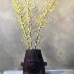 """Forsythia in Chinese Pot - Oil on Linen- (Framed)- 38x 30"""", $1600"""